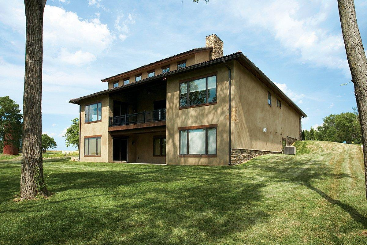 Southwest, Tuscan House Plan 75471 with 4 Beds, 3 Baths, 3 Car Garage Rear Elevation
