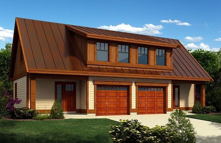 2 Car Garage Apartment Plan 76040 Elevation