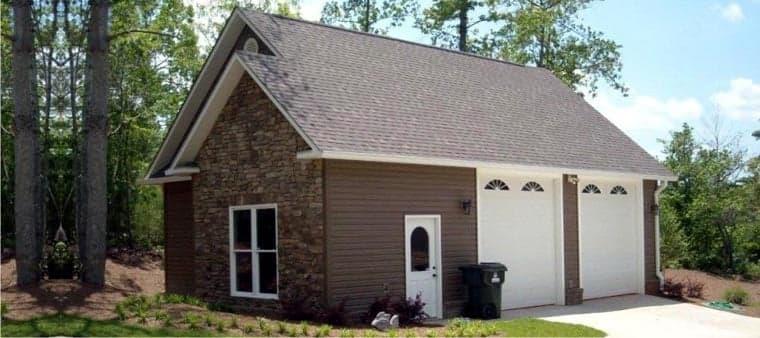 Farmhouse 2 Car Garage Plan 78859 Elevation