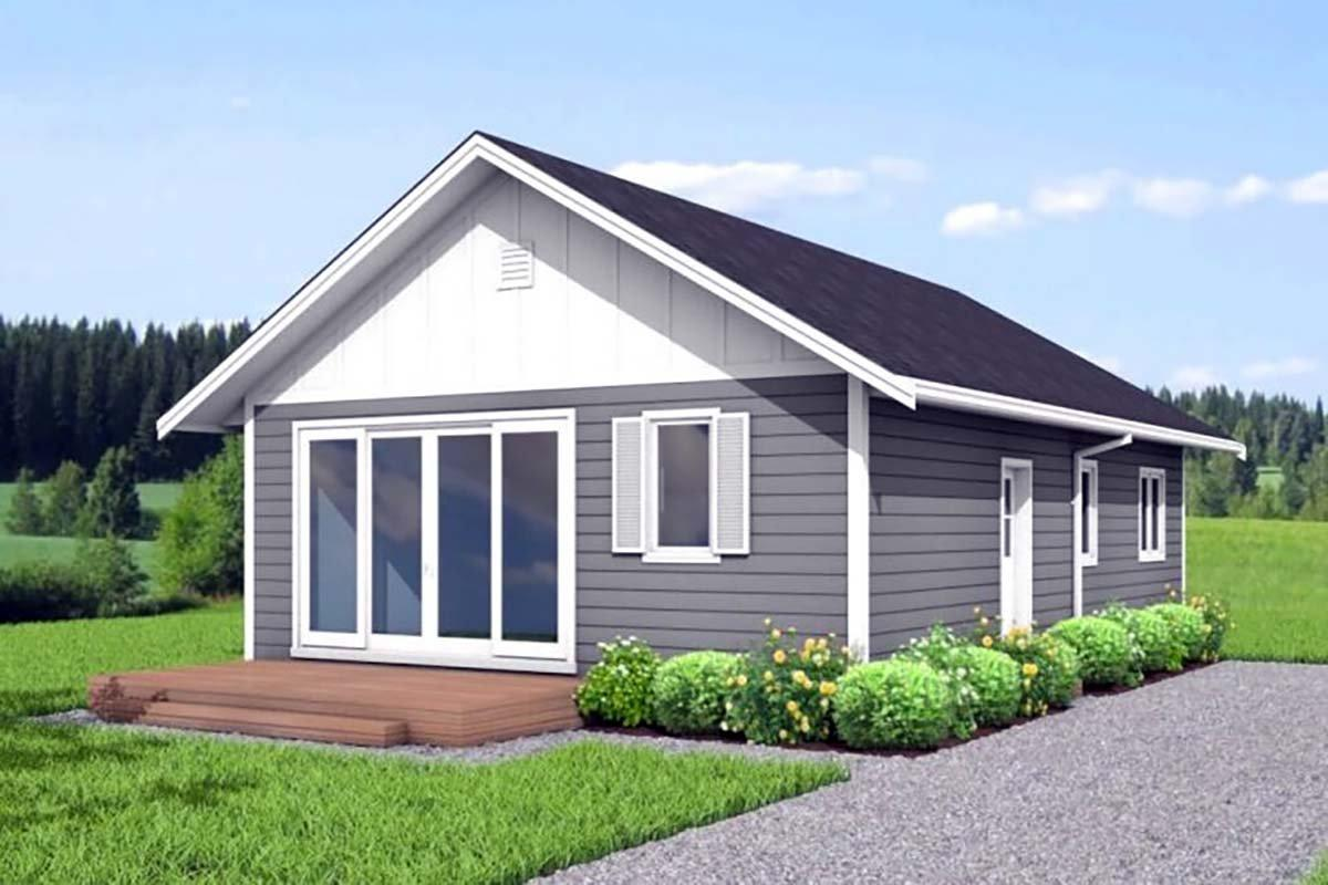 Cabin, Cottage House Plan 80500 with 3 Beds, 2 Baths Elevation
