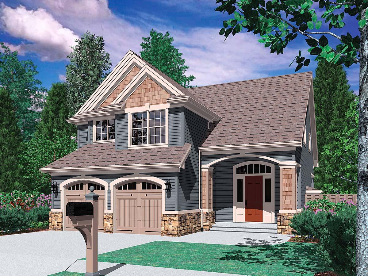 Craftsman, Traditional House Plan 81233 with 3 Beds, 3 Baths, 2 Car Garage Elevation