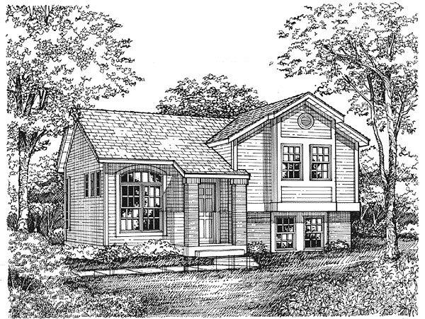 Traditional House Plan 88163 with 3 Beds, 1 Baths, 1 Car Garage Elevation