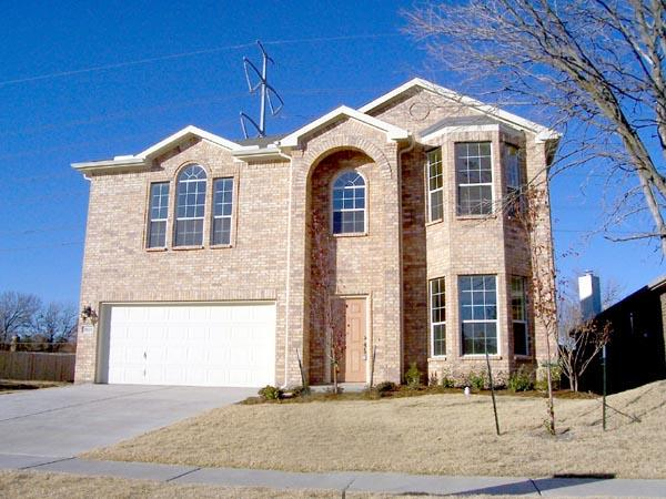 Narrow Lot, Traditional House Plan 88655 with 4 Beds, 3 Baths, 2 Car Garage Elevation
