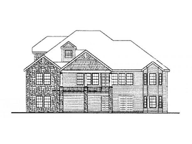 Country, Craftsman, Ranch House Plan 90607 with 4 Beds, 4 Baths, 3 Car Garage Rear Elevation