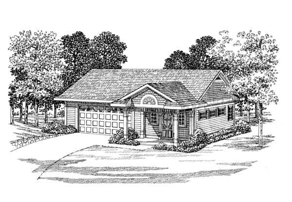 2 Car Garage Apartment Plan 91250 Elevation