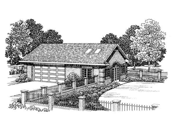 2 Car Garage Apartment Plan 91253 Elevation