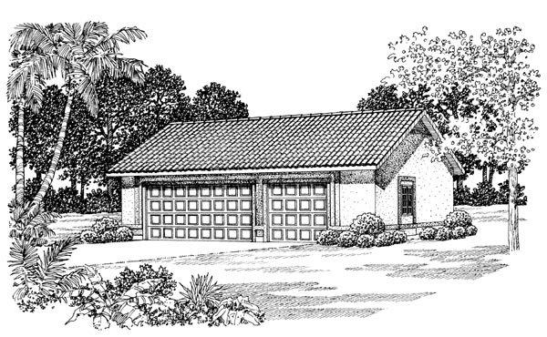 2 Car Garage Plan 91259 Elevation