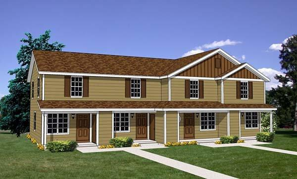 Traditional Multi-Family Plan 94485 with 8 Beds, 4 Baths Elevation