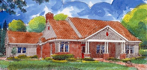 Country, Southern House Plan 95737 with 3 Beds, 2 Baths, 2 Car Garage Elevation