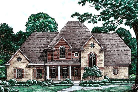 Country, European, Victorian House Plan 97485 with 4 Beds, 4 Baths, 2 Car Garage Elevation