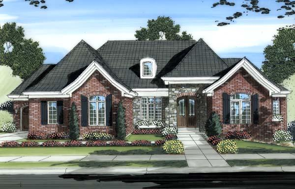 Traditional House Plan 98607 with 3 Beds, 3 Baths, 3 Car Garage Elevation