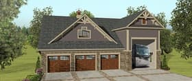 Plan Number 74843 - 1207 Square Feet