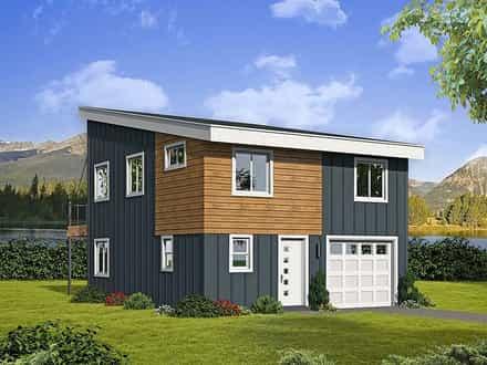 Garage-Living Plan 51597