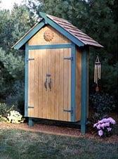 Mini Garden Shed Woodworking Plan