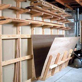 Lumber Storage Rack Woodworking Plan   Product Code DP 00135