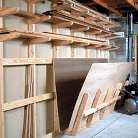 Lumber Storage Rack Woodworking Plan Dp 00135