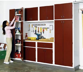 Utility Cabinet System for your Basement or Garage Woodworking Plan - Product Code DP-00182