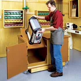 Flip-Top Work Center Woodworking Plan - Product Code DP-00239