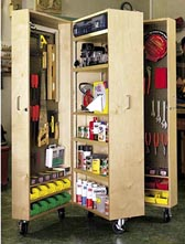 Mobile Tool Cabinet Woodworking Plan