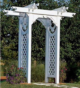 Trellised Arbor Woodworking Plan - Product Code DP-00263