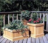Trio of Cedar Planters Woodworking Plan