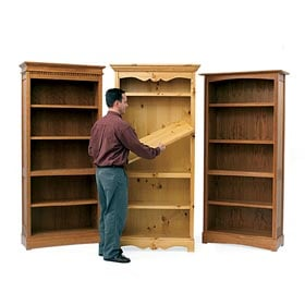 Trio of Bookcases Woodworking Plan - Product Code DP-00301