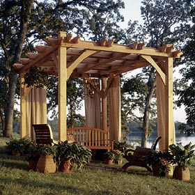 Build-to-Suit Pergola Woodworking Plan - Product Code DP-00327