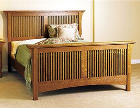Arts & Crafts Bed Woodworking Plan - Product Code DP-00424