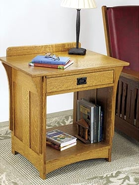 Arts and Crafts Nightstand Woodworking Plan - Product Code DP-00433