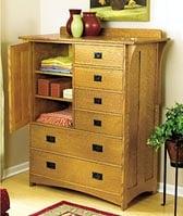 Arts and Crafts Dresser Woodworking Plan