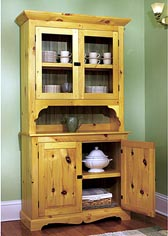 Heirloom Pine Hutch Woodworking Plan