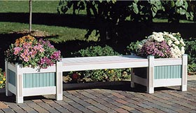 Classic Planter and Bench Woodworking Plan - Product Code DP-00109