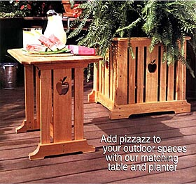 Patio Table & Planter Woodworking Plan - Product Code DP-00131