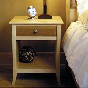 Maple & Cherry Nightstand Woodworking Plan - Product Code DP-00175
