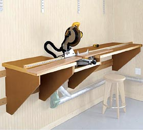 On-the-Mark Mitersaw Station Woodworking Plan - Product Code DP-00276