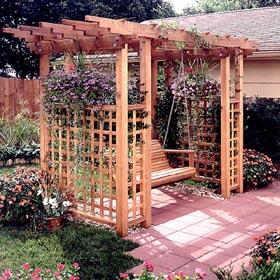 Garden Arbor Getaway Woodworking Plan - Product Code DP-00394