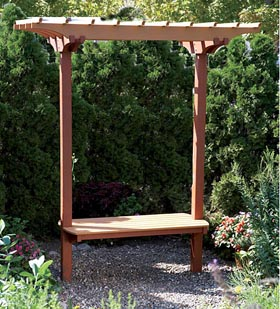 Garden Bench/Trellis Woodworking Plan - Product Code DP-00542
