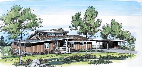 Contemporary Retro House Plan 10184 Elevation
