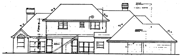 Traditional House Plan 10417 Rear Elevation