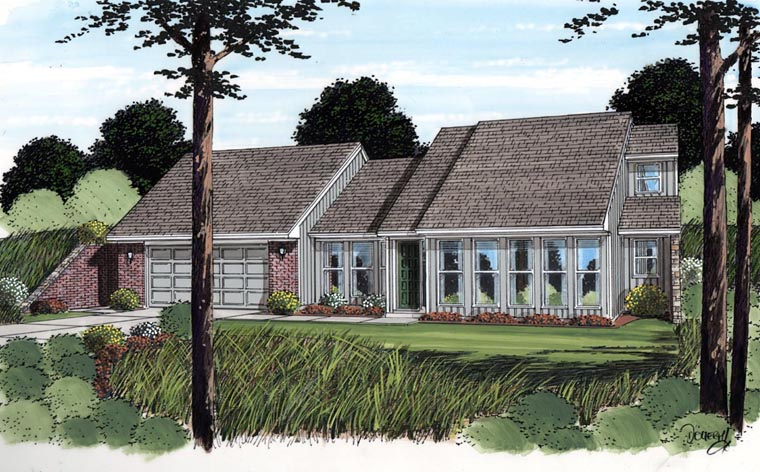 Contemporary Earth Sheltered s Retro House Plan 10482 Elevation
