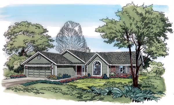 Ranch Traditional House Plan 10503 Elevation
