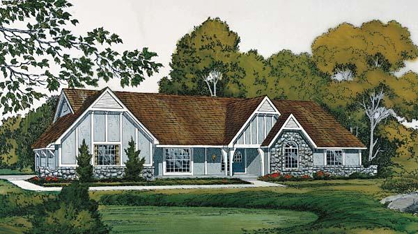 Tudor House Plan 10550