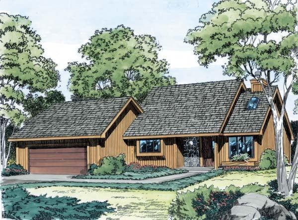 Contemporary Retro House Plan 10567 Elevation