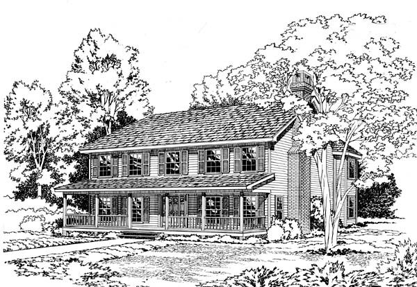 Country Southern House Plan 10638 Elevation