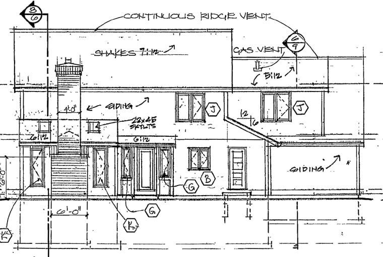 European Tudor House Plan 10673 Rear Elevation