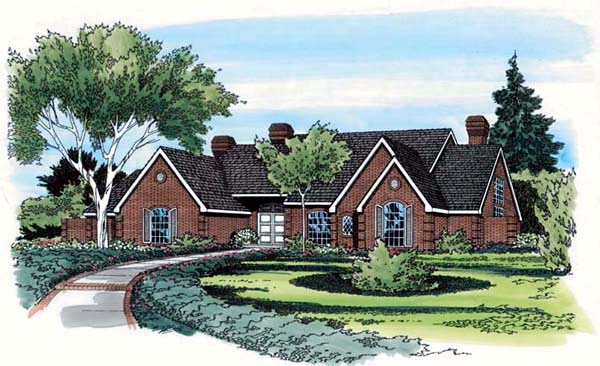 European Traditional House Plan 10698 Elevation