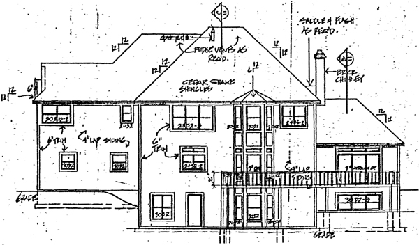 Country Farmhouse House Plan 10780 Rear Elevation
