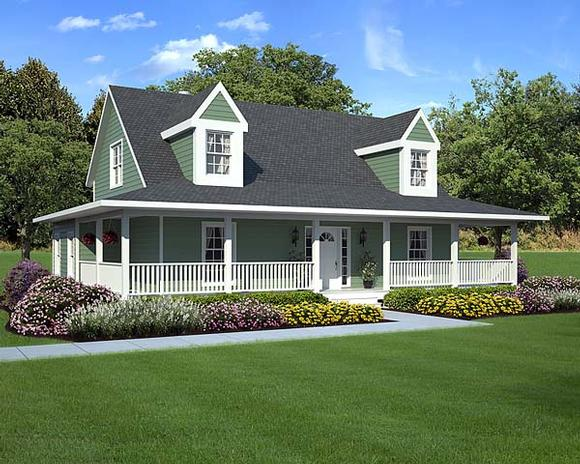 Country, Farmhouse, Southern, Traditional House Plan 10785 with 3 Beds, 3 Baths Elevation