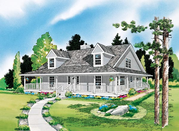 Country, Farmhouse, Southern, Traditional House Plan 10785 with 3 Beds, 3 Baths Picture 1