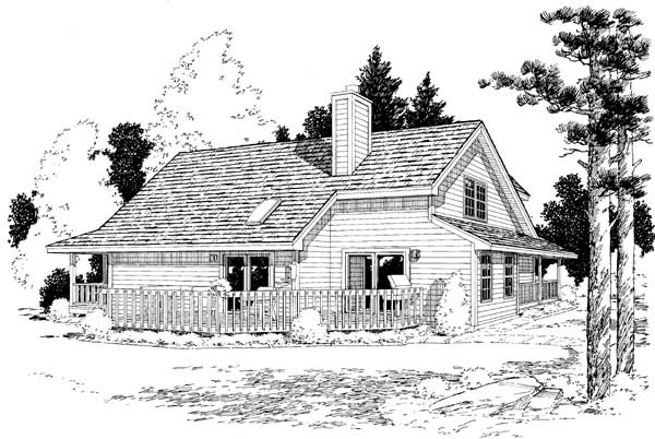 Country, Farmhouse, Southern, Traditional House Plan 10785 with 3 Beds, 3 Baths Rear Elevation